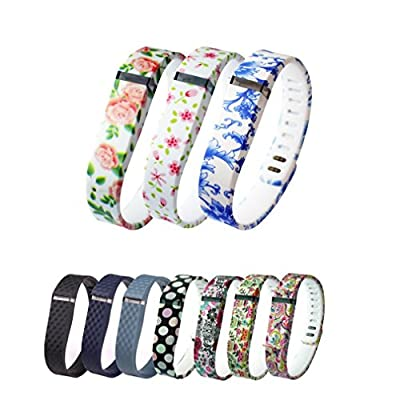 10PCS Replacement Bands with Clasps for Fitbit Flex Only /No Tracker/ Wireless Activity Bracelet Sport Wristband Fit Bit Flex Bracelet Sport Arm Band Armband-Small/Large Size