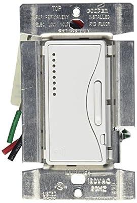 Cooper Wiring Devices RF9537-NAW Aspire RF 1000W Fluorescent ELV Smart Dimmer, Alpine White