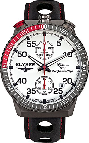 ELYSEE Men's 80517MMW Graf Berghe von Trips Analog Display Quartz Black Watch