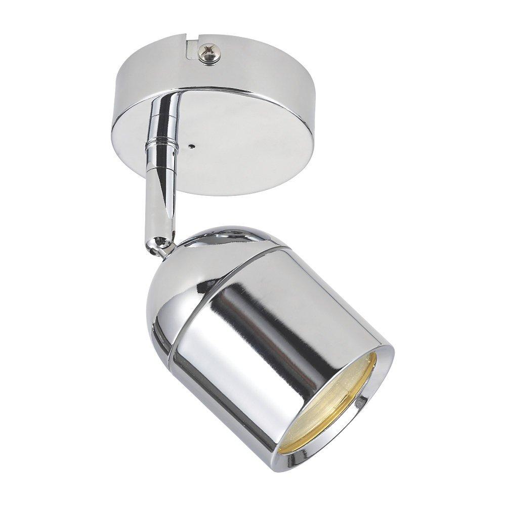 Moderna singola 1luci argento lucido cromato bagno faretto da parete raccordo–IP44 Lights4Living