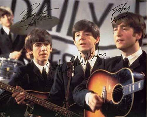 - THE BEATLES - Reprint 8x10 inch Photograph - John Lennon Paul McCartney George Harrison Ringo Starr