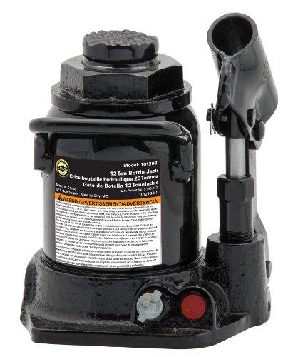 - Omega 10129B Black Shorty Hydraulic Bottle Jack - 12 Ton Capacity