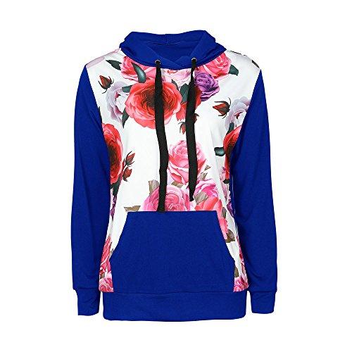 Ray Varsity Shirt Automne Longues Bleu Manches Sweat Sweats Sweater Encapuchonn Femme Capuche NINGSANJIN Tops Chemisiers vRYqZ0Bxw