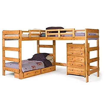 L Shaped Bunk Bed With Underbed Storage Amazoncouk Kitchen Home