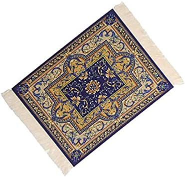 Vaorwne Magical Persian Mouse Pad Rug Bohemia Carpet Purple Mousepad Table Cup Mat