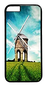 ICORER iPhone 6 Case Wind Mill Designer PC Hard Plastics Case for Apple iPhone 6 with 4.7inch Screen - Black