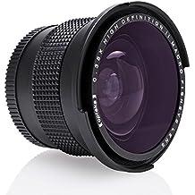 Opteka .35x HD Super Wide Angle Panoramic Macro Fisheye Lens for Canon EOS 80D, 70D, 60D, 60Da, 50D, 1Ds, 7D, 6D, 5D, 5DS, Rebel T6s, T6i, T6, T5i, T5, T4i, T3i, T3, T2i and SL1 Digital SLR Cameras