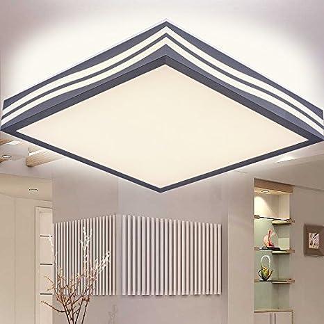 KHSKX Lámpara de techo, lámpara de techo LED cuadrada simple ...