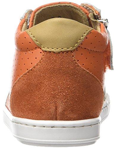 Shoopom Bouba Zip Box - Primeros Pasos de Otra Piel Bebé-Niñas Orange (Orange-Blanc)