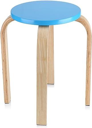 Zerone Ikea Tabouret Empilable En Bois Incurve Colore 45 5 X 30 Cm
