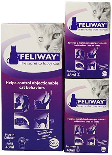 Ceva Feliway Plug-In Diffuser with 3 Refills, 48 mL