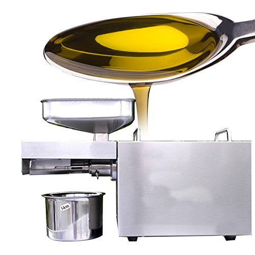 Zinnor Automatic Small Oil Press Machine Stainless Steel Cold Hot Press Easily Extract Nut and Seed Oil for Home and Kitchen by Zinnor