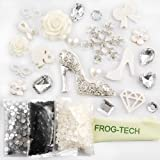 Frog-tech DIY 3D Silver girl christmas winter snowflake snowflower Bling Cell Phone Cases Case Resin Flat back Kawaii Cabochons Deco Kit / Set Crystal Winter Snowflake
