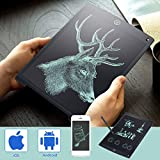 12' Electronic Digital Tablet LCD Handwriting Pad Tablet Drawing Graphics Painting Board Portable Notepad with Pen Black
