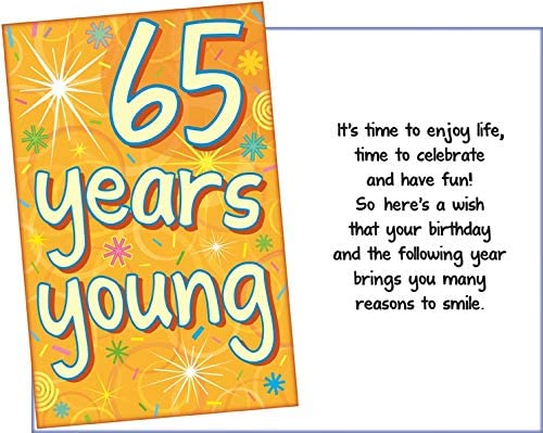 Prime Greetings Happy 65th Birthday Card