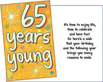 Amazon.com: Prime Greetings 65 años joven feliz cumpleaños ...