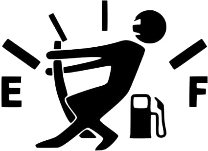 Fuel gauge vinyl decal sticker for Car Truck Window laptop empty funny gas