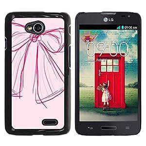 Paccase / SLIM PC / Aliminium Casa Carcasa Funda Case Cover para - Sketch Art Pink Red Fashion Design - LG Optimus L70 / LS620 / D325 / MS323