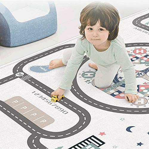 - GREENWISH Baby Play Mats Portable Crawling Carpets, Extra Large Size 79'' x 71'' Soft Foam Playmat with Double-Sided Anti-Slip, Waterproof, Non-Toxic, No Odors, Spill Resistant, Durable, Puzzle Play M