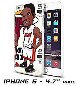 Miami Heat Big 3 - Chris Bosh cartoon , Cool iPhone 6 - 4.7 Inch Smartphone Case Cover Collector iphone TPU Rubber Case White [By PhoneAholic] by runtopwell