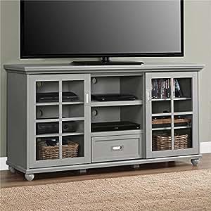 altra aaron lane grey 55 inch tv stand kitchen dining. Black Bedroom Furniture Sets. Home Design Ideas