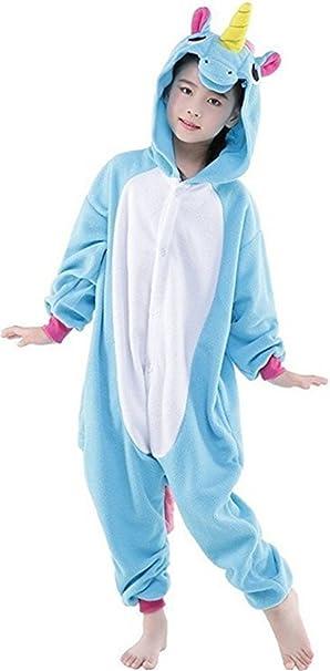 YOGLY Niños Unicornio Pijama Monos Dibujos Animados Animal Disfraz ...