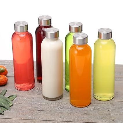 Set of 6 Charmed 500 ML Glass drinking juice bottle