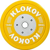 Klokov 15kg Olympic Weightlifting Bumper Plate (Single) For Sale