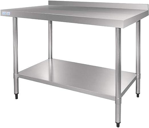 Vogue - Mesa de acero inoxidable con soporte para cocinas de 600 ...