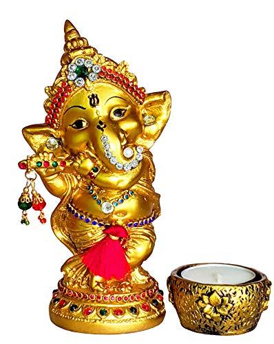 Sacred Blessings Resin Lord Ganesha Idol Ganesh Murti Statue Home Decor Ganeshji for Gift Showpiece (9.5 x 6.5 x 15) cm…