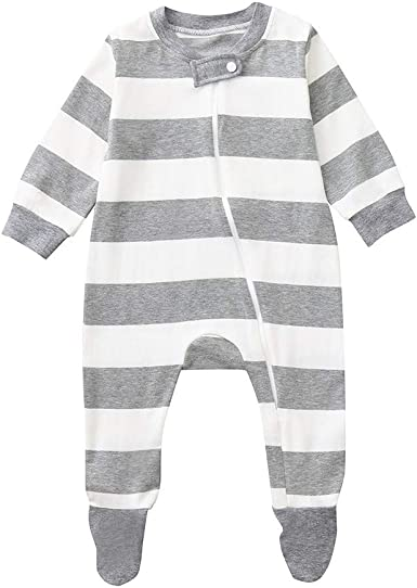 Fiomva Newborn Baby Boy Girl Warm Long Sleeve Romper Outfits Jumpsuit Bodysuit Clothes