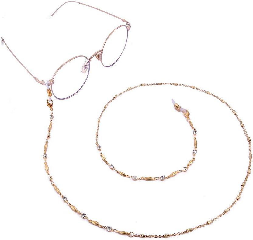 VASSAGO Women Two Styles Rhinestone Bead Link Reading Eyeglasses Chain Sunglasses Holder Strap Cord Necklace Eyewear Accessories