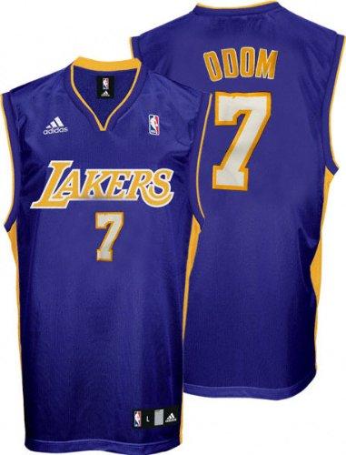 1d56061d8c6 Amazon.com : Lamar Odom Jersey: adidas Purple Replica #7 Los Angeles ...