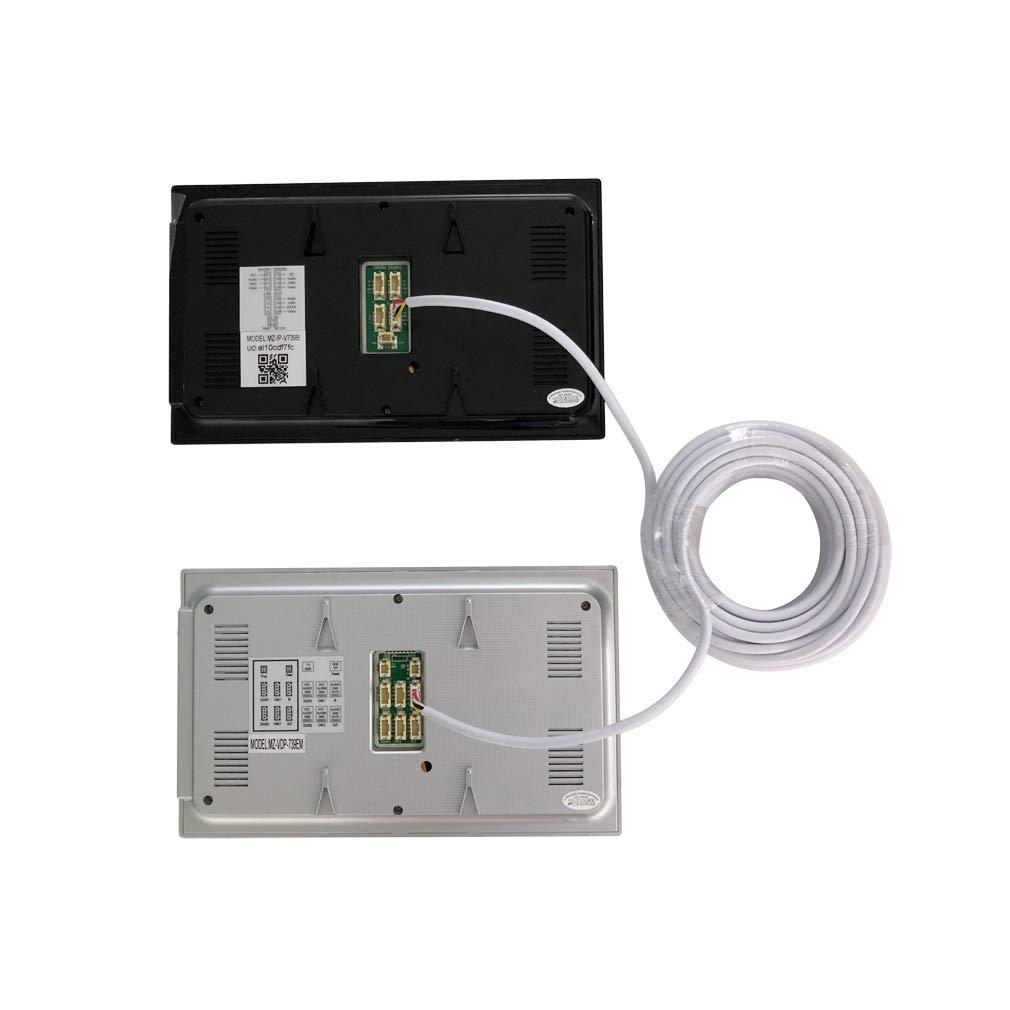 TMEZON 15M RVV4 Cable de 4 hilos para videoportero Timbre de la puerta timbre de la puerta intercomunicador cable Cable de extensión de cable ...
