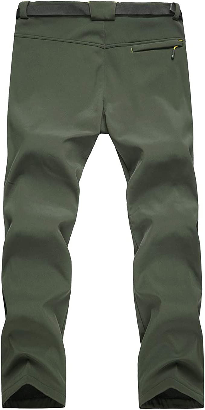 Mens Outdoor Hiking Ski Pants Fleece Padded Windproof Waterproof Trousers Warm