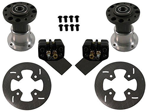 "NEW MCP FRONT GO KART BRAKE KIT WITH HUBS, 6"" ROTORS, & CALIPERS"