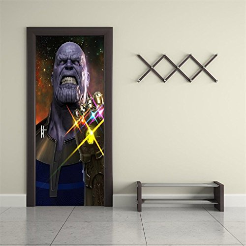 Thanos Marvel Avengers 3D DOOR WRAP Decal Wall Sticker Mural Art D277, Custom Order by Dizzy