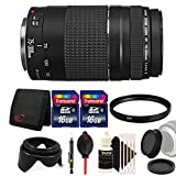 Cheap Canon EF 75-300mm f/4-5.6 III Lens + 58mm UV Filter + Rear & Front Lens Cap + Tulip Lens Hood + 32GB Memory Card + Wallet + Lens Pen + Dust Blower + 3pc Cleaning Kit