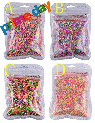7 COLOR WINGS 100g Colorful Fake Candy Sweets Sugar Sprinkles Decorations for Fake Cake Dessert Simulation Food (A)