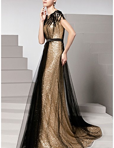 Amazon.com: Favors Womens Sequin A Line Long Evening Dress with Sleeve Formal Gown EV11: Clothing