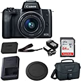 Canon EOS M50 15-45mm f/3.5-6.3 IS STM Mirrorless Digital Camera with 64GB Bundle