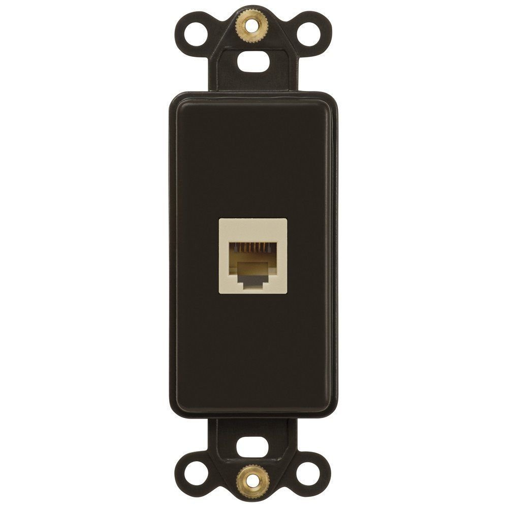 Eight24hours Switch Plate Outlet Cover Rocker Toggle Light Wall Plate - Oil Rubbed Bronze - Telephone Jack - Single