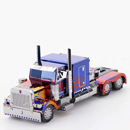 Optimus Prime Metal Puzzle Creative 3D Ensamblaje de ...