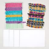 Cardboard Weaving Cards for Kids and Adults Crafts to Design Make and Weave (Pack of 30)