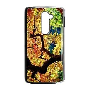 JIUJIU Attractive Autumn Trees Custom Protective Hard Phone Cae For LG G2
