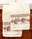 Set of 2 Heart & Star Hand Towels
