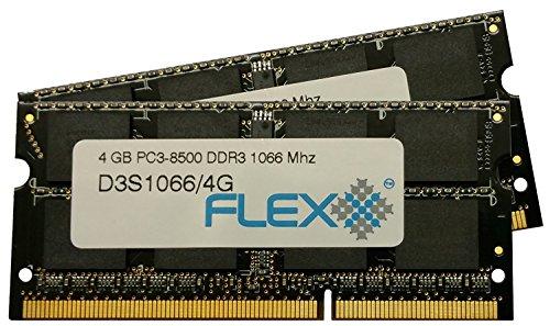 Flexx, ram memory 8GB kit (2 x 4GB), DDR3 PC3-8500, 1067M...
