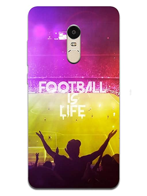 detailed look 29814 5a1dc RedMi Note 4 Back Cover - Football is My Life - Love: Amazon.in ...