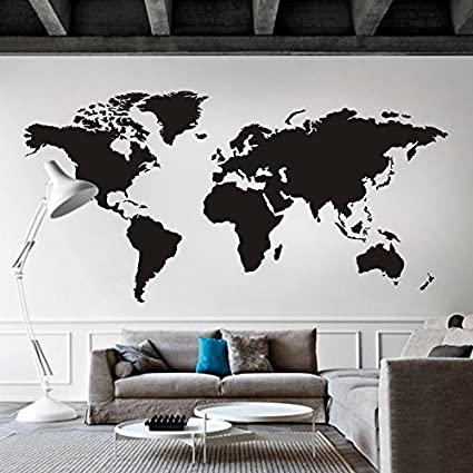 World map wall decal world country atlas the whole world sticker world map wall decal world country atlas the whole world sticker vinyl wall map decor office gumiabroncs Gallery