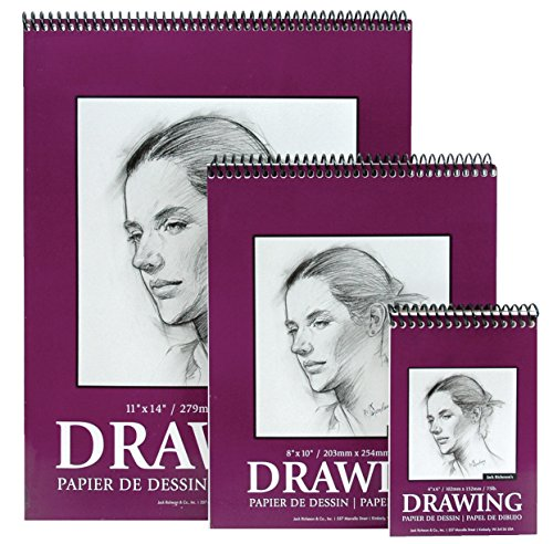 Jack Richeson 9-Inch-by-12-Inch Drawing Paper Pad, 30-Sheet Spiral